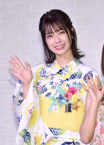 『スモールワールズ TOKYO』の一周年記念記者会見に出席したAKB48・小田えりな (C)ORICON NewS inc.