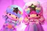 『LittleTwinStars 夏の夜のファンタジー meets キキ&ララ展』点灯式に登場したキキ&ララ (C)ORICON NewS inc.
