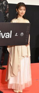 映画祭『TikTok TOHO Film Festival 2021』授賞式に出席した浜辺美波 (C)ORICON NewS inc.