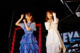 (左から)日向坂46キャプテンの佐々木久美、櫻坂46キャプテンの菅井友香=『W-KEYAKI FES.2021』最終日 Photo by 上山陽介