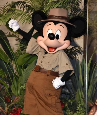 ディズニー実写映画の新作『ジャングル・クルーズ』の完成披露試写会に出席したミッキーマウス (C)ORICON NewS inc.