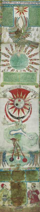 ジェームズ・スタンディッシュ『リプリー・スクロール』(部分) 16世紀 大英図書館蔵 (C)British Library Board