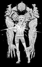 「チェンソーマン」「ルックバック」の作者、漫画家の藤本タツキ氏による描き下ろしイラスト=映画『サイコ・ゴアマン』(7月30日より全国順次公開)(C)2020 Crazy Ball Inc.