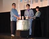 『サイダーのように言葉が湧き上がる』初日舞台あいさつに出席した(左から)イシグロキョウヘイ監督、市川染五郎、杉咲花 (C)ORICON NewS inc.