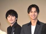 『犬部!』初日舞台あいさつに出席した(左から)林遣都、中川大志 (C)ORICON NewS inc.