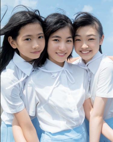 モー娘。15期生の2年を振り返る「写真集」6位 3人の少女の成長の軌跡をたっぷり収録