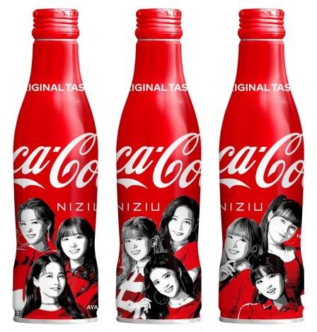 8月2日発売「コカ・コーラ」スリムボトル NiziUデザイン3種