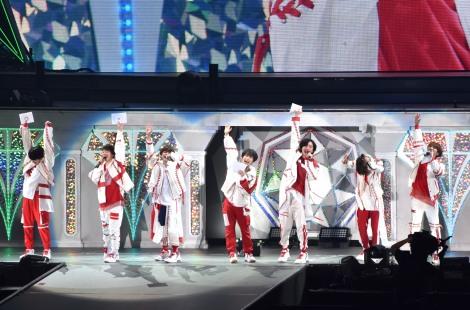 MCでのデビュー発表の瞬間=『なにわ男子 First Arena Tour 2021 #なにわ男子しか勝たん』 (C)ORICON NewS inc.