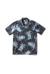 パイナップル繊維アロハシャツ 税込¥44,000 (綿95%、植物繊維パイナップル5%、S、M、L、LL、3Lサイズ) (C)Disney