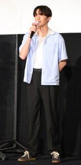 映画『東京リベンジャーズ』大ヒット御礼! 東リベの夏は終わらない! 舞台あいさつに登壇した杉野遥亮 (C)ORICON NewS inc.