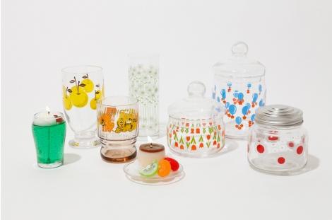 懐かしさ全開のグラス食器たち