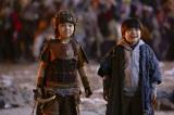 (左から)主人公・渡辺ケイ(寺田心)と弟・ダイ(猪股怜生)(C)2021『妖怪大戦争』ガーディアンズ
