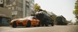 トヨタのA90 スープラも「柿の種」カラー!=映画『ワイルド・スピード/ジェットブレイク』(8月6日公開) (C)2020 UNIVERSAL STUDIOS. All Rights Reserved.