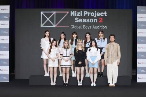 『Nizi Project』シーズン2始動にあたって韓国から中継で記者会見に臨んだJ.Y. Park氏とNiziU