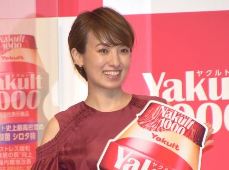 『Yakult(ヤクルト)1000』全国販売開始記念イベントに参加した南明奈 (C)ORICON NewS inc.