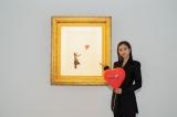 バンクシー代表作 『風船と少女』展示『世界一小さな美術館@GMOデジタル・ハチ公』に出席した堀田茜