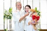 結婚を発表した(左から)山名文和、宇都宮まき (C)吉本興業