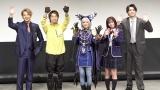 (左から)石黒英雄、木原瑠生、桃月なしこ、西葉瑞希、岸洋佑=「ヨドンナ」「ヨドンナ2」舞台挨拶 (C)ORICON NewS inc.