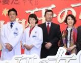 『科捜研の女 -劇場版-』公開記念舞台あいさつイベントの模様(左から)風間トオル、沢口靖子、内藤剛志、若村麻由美