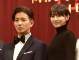 映画『マスカレード・ナイト』完成披露試写会に出席した(左から)木村拓哉、長澤まさみ (C)ORICON NewS inc.