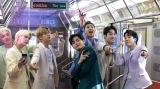 BTSが電車内で踊るGalaxyのWEBムービー『Galaxy x BTS:Unfold your Galaxy Z Flip35G』