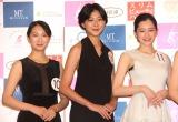 『第54回ミス日本コンテスト2022』東日本地区ファイナリストに決定した(左から)飯島由佳、河野瑞夏、佐藤梨紗子 (C)ORICON NewS inc.