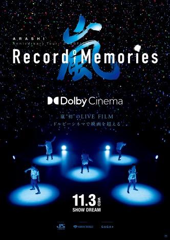 "『ARASHI Anniversary Tour 5×20 FILM ""Record of Memories""』ドルビー版ポスター(C)2021 J Storm Inc."