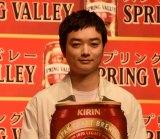 『スプリングバレー』3000万本突破記念祝杯式に出席した染谷将太 (C)ORICON NewS inc.