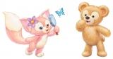 """おおきなしっぽがかわいい! ダッフィー(右)の新しいおともだち キツネの""""リーナ・ベル"""" (C)Disney"""
