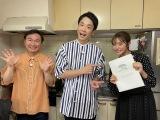 『かまいたちのいただきハウス』に出演する(左から)山内健司、濱家隆一、王林(C)テレビ朝日