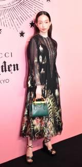 『Gucci Garden Archetypes 展』に来場した松島花 (C)ORICON NewS inc.