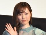 アニメ映画『アイの歌声を聴かせて』完成披露報告イベントに登壇した福原遥 (C)ORICON NewS inc.
