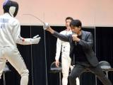 岡田准一、フェンシング体験で夢中