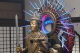 謎の仏像モンジュさま(SHELLY) =『ヘイ!モンジュ!〜迷えるわたしに教養を〜』9月27日、NHK総合で放送 (C)NHK