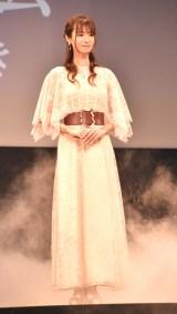 『劇場版 ルパンの娘』完成披露舞台あいさつに出席した深田恭子 (C)ORICON NewS inc.