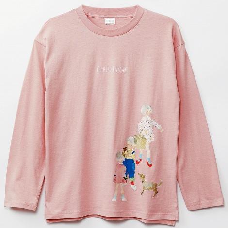 サムネイル 「いわさきちひろコラボ長袖Tシャツ」(税込価格2,068円)